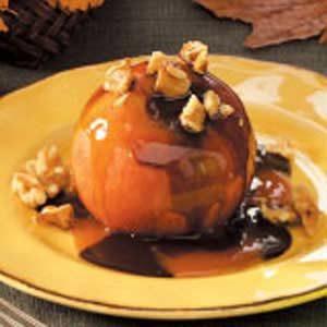 Warm Chocolate-Caramel Apples