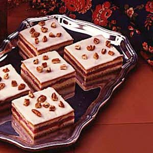 Cherry Filled Cake Squares