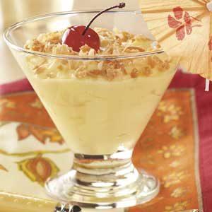 Pina Colada Pudding Cups