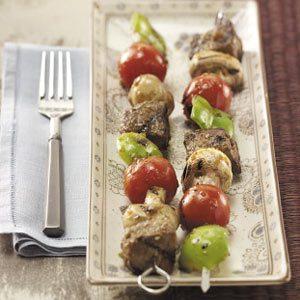 Sesame Beef  'n' Veggie Kabobs