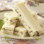 Walnut-Cream Cheese Finger Sandwiches
