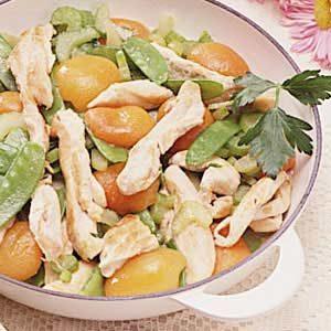 Chicken and Apricot Saute