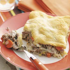 Turkey Cabbage Bake