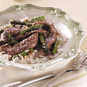 Asian Asparagus Beef Stir-Fry