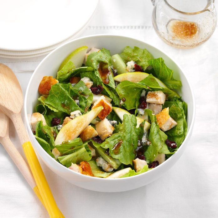 Pear Chicken Salad with Maple Vinaigrette
