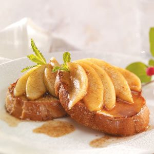 French Toast with Apple Cinnamon Topping