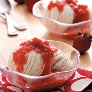 Slow-Cooker Strawberry Rhubarb Sauce