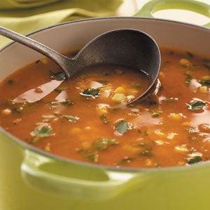 Fresh Corn and Tomato Soup
