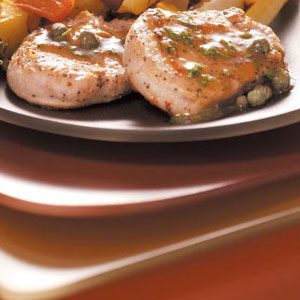 Pork Cutlets with Capers