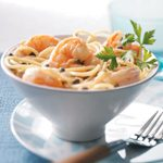 Healthy Shrimp Piccata Pasta