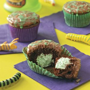 Slime-Filled Cupcakes