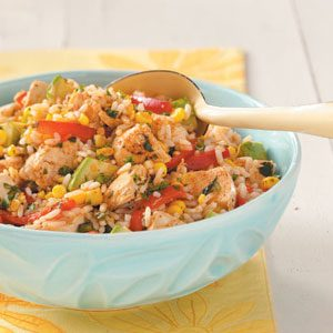 Southwest Chicken & Rice Salad