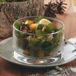 Bacon Blue Cheese Mushroom Spinach Salad