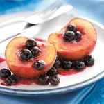 Grilled Peaches and Berries