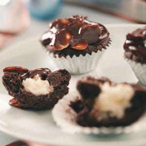 Coconut-Almond Fudge Cups