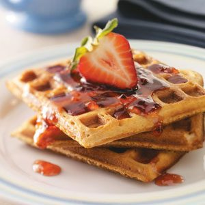 Peanut Butter & Jelly Waffles