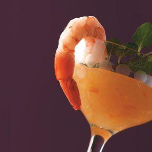 Shrimp with Orange Pineapple Sauce