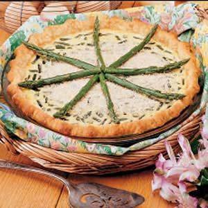Fresh Asparagus Quiche