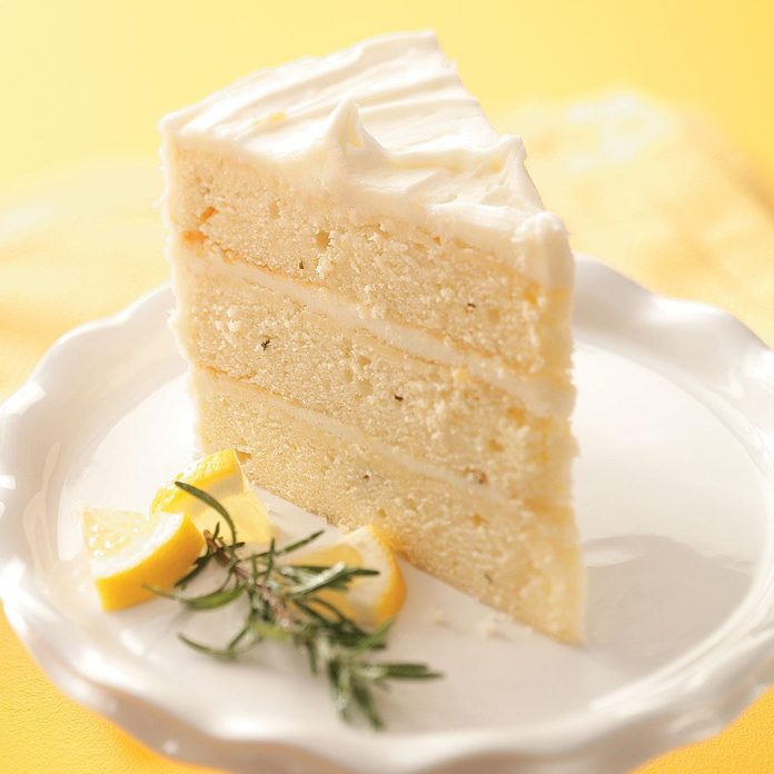 Lemon-Rosemary Layer Cake