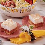 Spring Rhubarb Torte