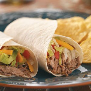 Slow-Cooked Green Chili Beef Burritos