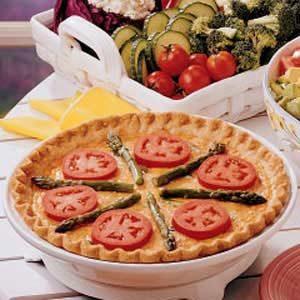 Asparagus Tomato Quiche
