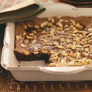 Gooey Caramel Cashew Brownies
