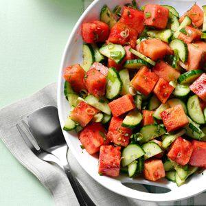 Minty Watermelon-Cucumber Salad