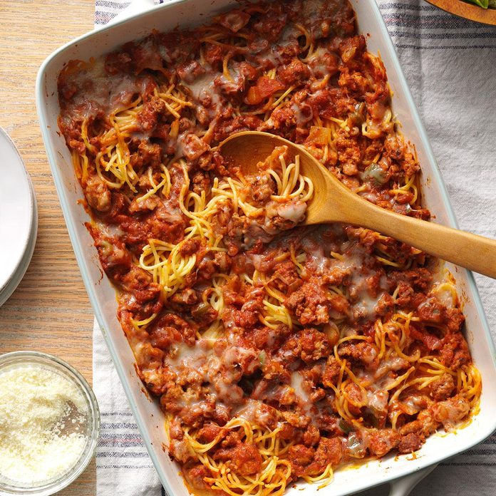 Day 10: Rich Baked Spaghetti
