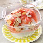 Rhubarb Compote with Yogurt & Almonds