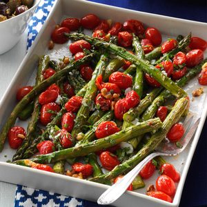 Roasted Asparagus & Tomatoes