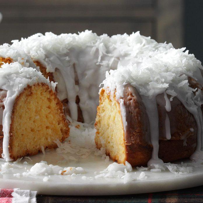Pina Colada Tube Cake