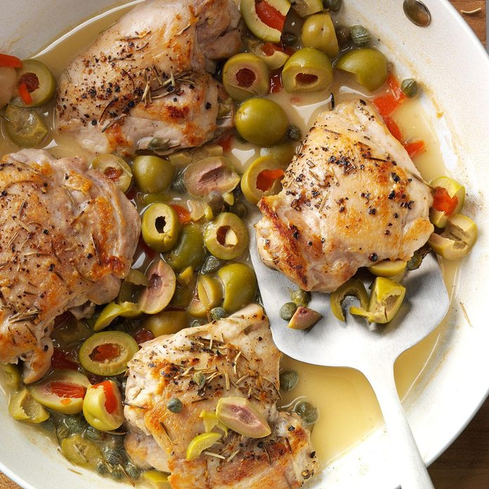 Day 27: Skillet Chicken with Olives