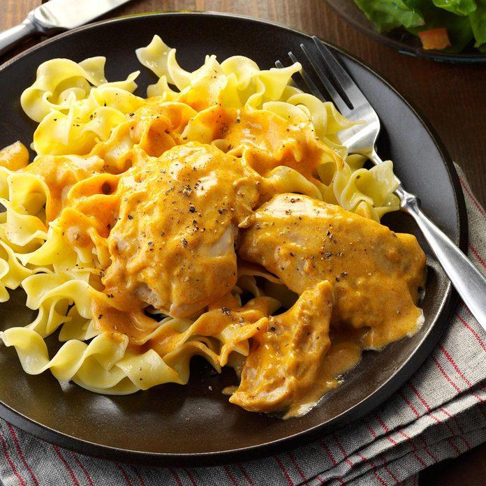 Creamy Chicken Thighs & Noodles