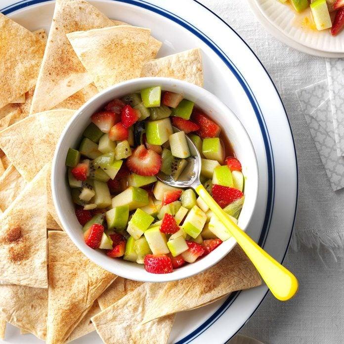 Apple Salsa with Cinnamon Chips