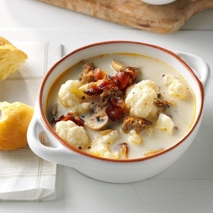 Day 28: Tuscan Cauliflower Soup