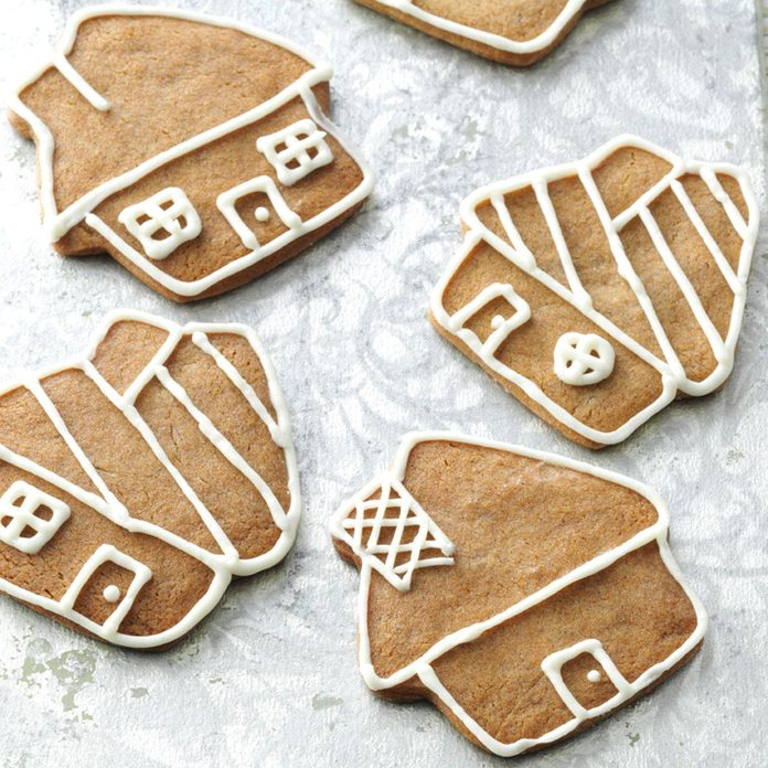 Gingerbread Cookies with Buttercream Icing