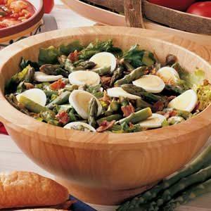 Hot Bacon Asparagus Salad