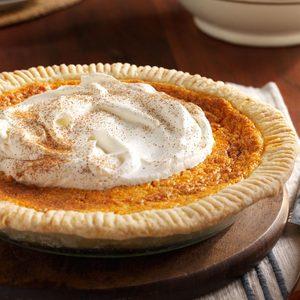 Fluffy Sweet Potato Custard Pie