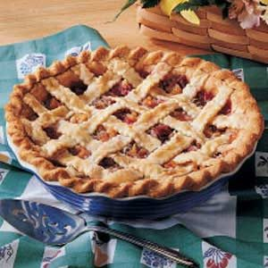 Peachy Rhubarb Pie