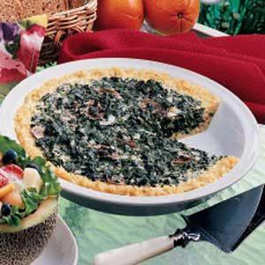 Rice-Crust Spinach Quiche