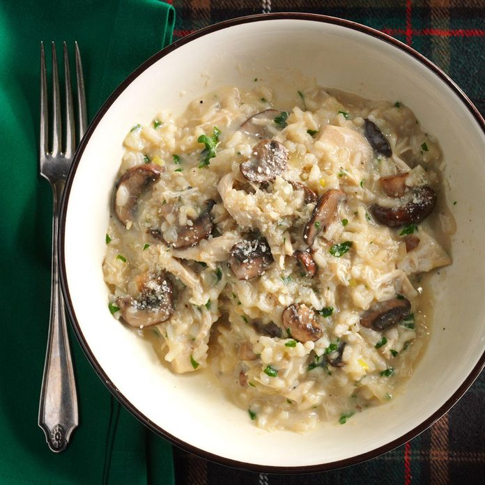 Day 23: Risotto with Chicken and Mushrooms