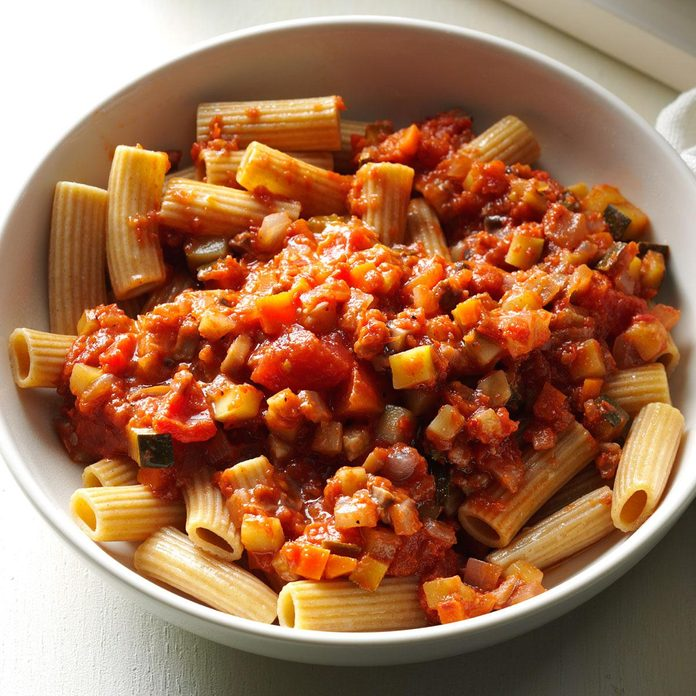 Mushroom Bolognese with Whole Wheat Pasta
