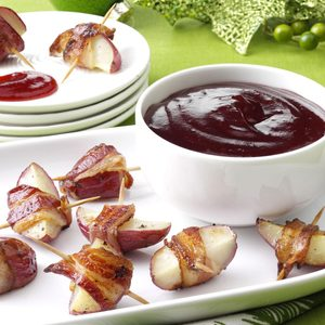 Balsamic-Cranberry Potato Bites