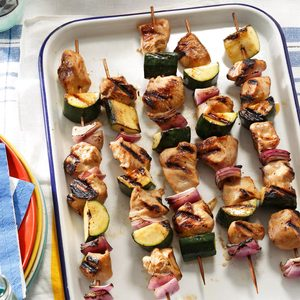 Marinated Chicken & Zucchini Kabobs