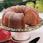 Walnut Apple Tube Pan Cake