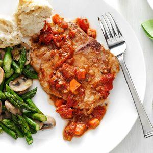 Tomato-Topped Italian Pork Chops
