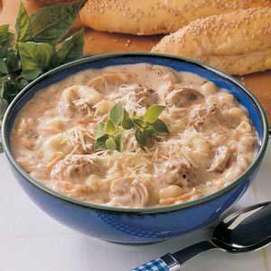 Meatball Mushroom Soup
