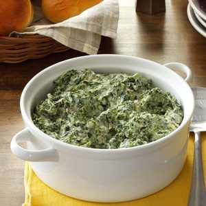 Three-Cheese Creamed Spinach