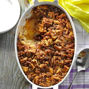 Raisin Bread & Sausage Morning Casserole